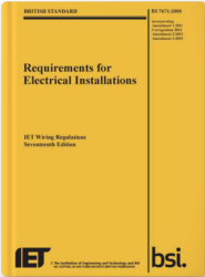 Requirement for electrical installation IET